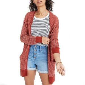 Madewell Summer Ryder Cardigan Stripe Sweater